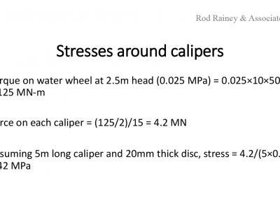 Stresses in turbine wheel